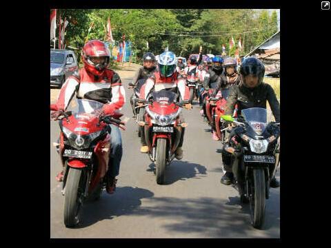 Halal Bi Halal CBR Club Makassar di Bili-Bili