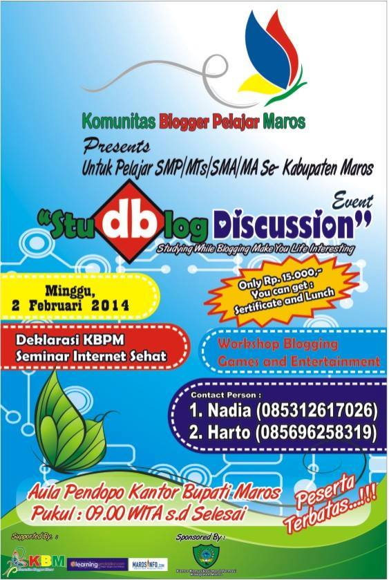 StudBlog Discussion Event 2014 dan Internet Sehat
